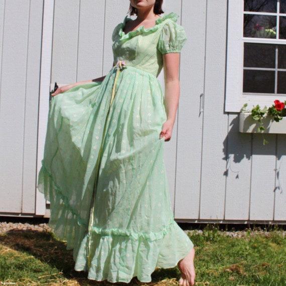 Vintage Green Emma Domb Dress