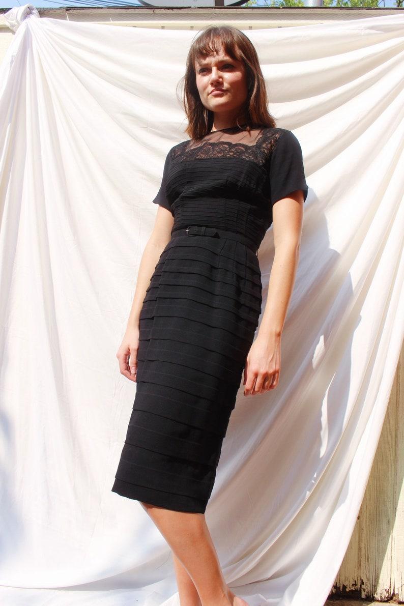 Black 50s Vintage Cocktail Dress