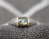 Vintage Sterling Silver quot Eye quot Ring Size 7 1 2
