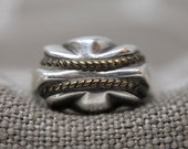 Vintage Sterling Silver quot Rope quot Ring Size 7