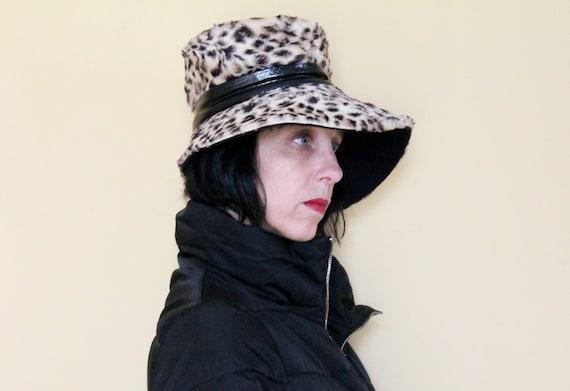 "Vintage Hat - Leopard Print - ""Union Made"""