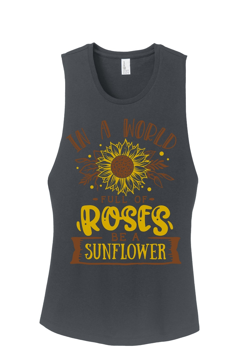 Sunflower and rose Festival Tank 100/% Cotton