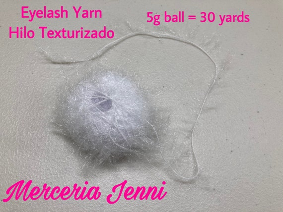 Eyelash Yarn acrilico| Eyelash Trim Hilo Texturizado 30 yards  5g Purple Eyelash Yarn Hilo Texturizado Morado| Acrylic Yarn