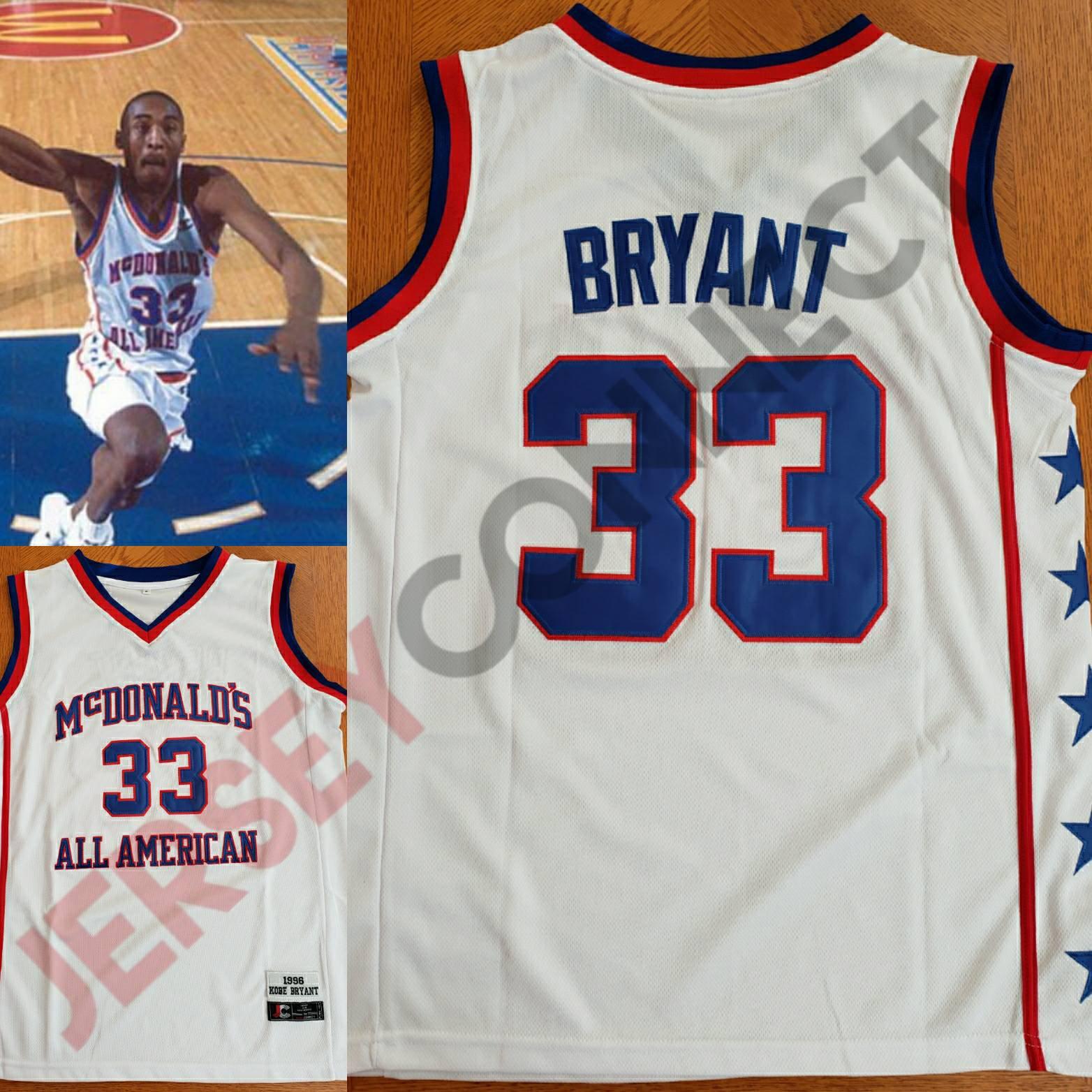 New Kobe Bryant McDonald's All American Basketball Jersey (S,M,L,XL,2XL)
