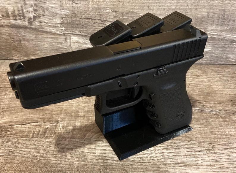 Glock Gun stand holds 3 magazines image 0