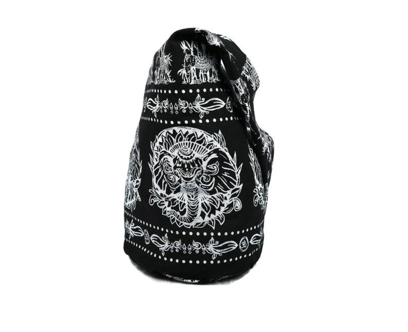 Crossbody bag Hobo Tote Sling Cotton Hippie Boho Shoulder Messenger Bag Unique Tapestry Ganesh Print