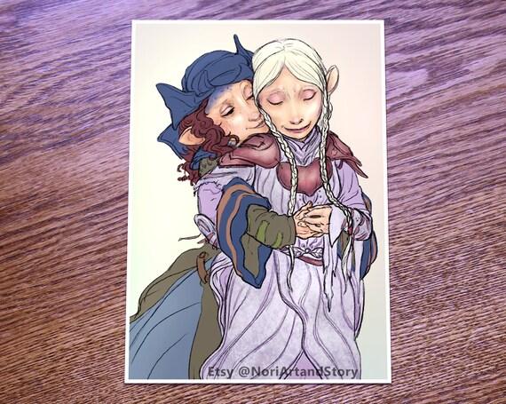Kylan and Brea Fine Art Print Dark Crystal Age of Resistance Fan Art