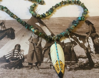 Vintage Navajo Necklace with old Turkoois.