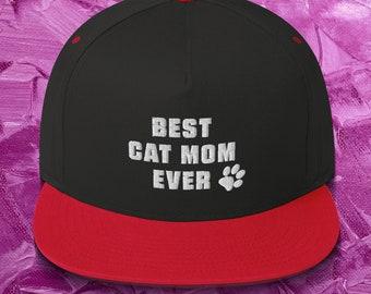 Best Cat MOM Ever Snapback Hat Men//Women Street Dancing Snapback Hat