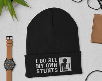 I Do All My Own Stunts Get Well Soon Gifts Distressed Baseball Hat