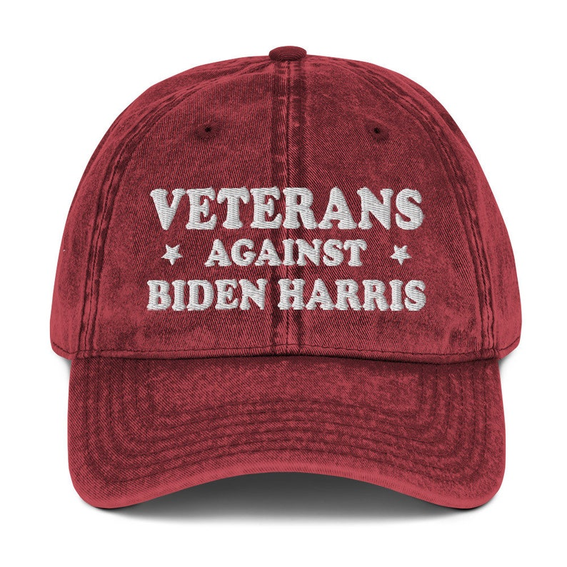 Veterans Against Biden Harris Pro  Inauguration Vintage Baseball Hat