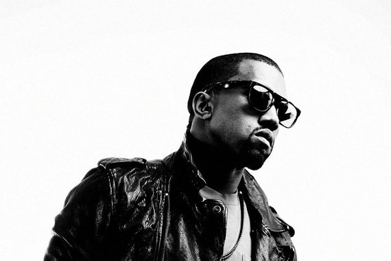 Kanye West Black And White Poster Home Decor Wall Art Print Etsy