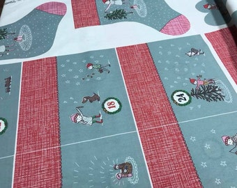 Lillestoff Advent Calendar Susalabim Panel to sew diY yourself
