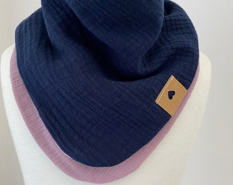 Muslin Scarf Kids Triangular Scarf with Buttons
