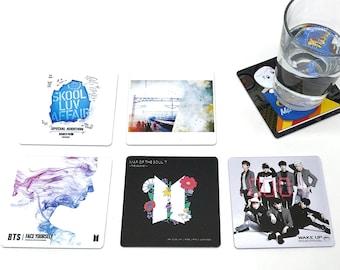 BTS album coasters