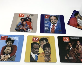 Classic Television Coasters - The Jeffersons Set of 5 TV Guide George Jefferson