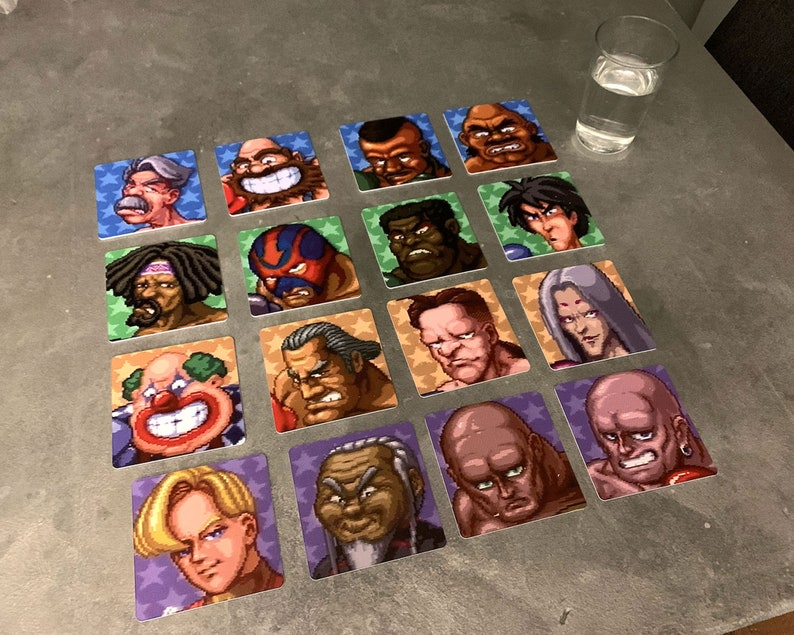 Super Punch Out Set of 16 Classic Video Game Drink Coasters