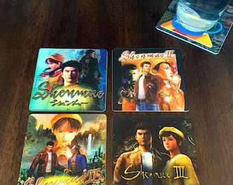 Classic Video Game Drink Coasters - Shenmue Set of 4 Sega Dreamcast