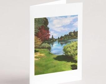Sheffield Park (Sussex), Greeting Card, Sussex Scenes, Art, Landscape Painting
