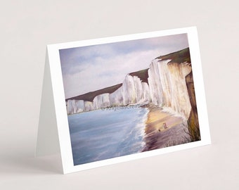 The Seven Sisters, South Downs National Park (Sussex), Greeting Card, Sussex Scenes, Art, Landscape Painting