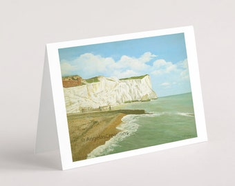 Seaford Head, Sussex, Greeting Card, Sussex Scenes, Art, Landscape Painting