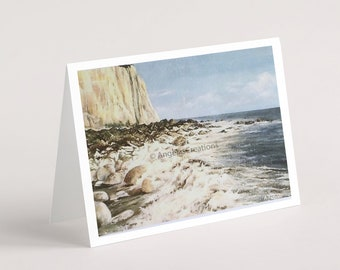 Low Tide, Peacehaven, Greeting Card, Sussex Scenes, Art, Landscape Painting