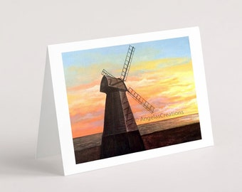 Rottingdean Windmill (Sussex), Greeting Card, Sussex Scenes, Art, Landscape Painting