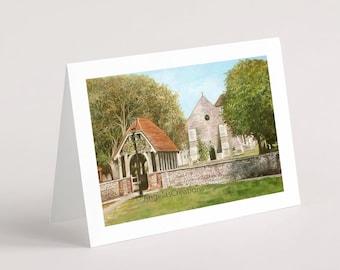 St. Margaret's, Rottingdean (Sussex), Greeting Card, Sussex Scenes, Art, Landscape Painting