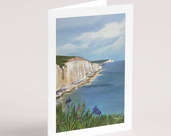 Friars Bay, Peacehaven (Sussex), Greeting Card,Sussex Scenes, Art, Landscape Painting