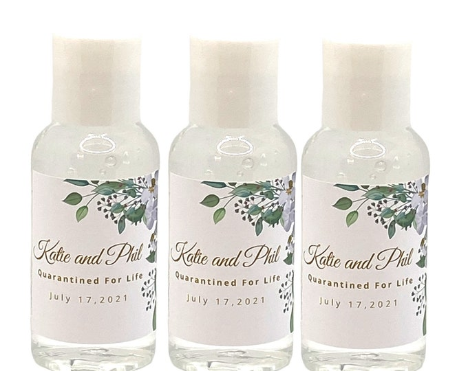 Custom Hand Sanitizers for your Wedding, Wedding Shower, Bridal Shower, Birthday Party, Baby Shower.  Party Favor|Wedding Favor