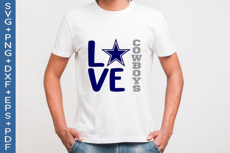Download Cowboys Football svg Love Cowboys svg Cowboys cricut | Etsy