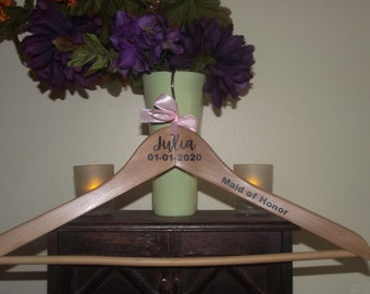Wedding Hanger | Bridal Party Gift | Engraved Hangers