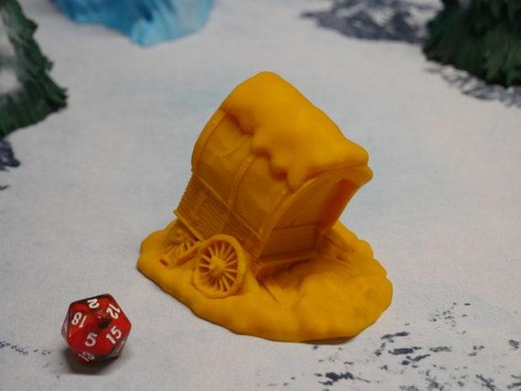 Wilds of Wintertide Wargaming Terrain D/&D DnD Warhammer Broken Wagon