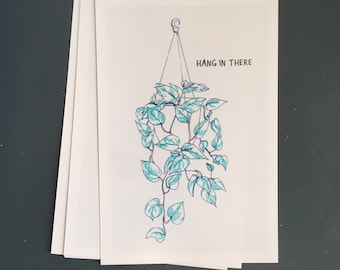 4x6 hang in there print