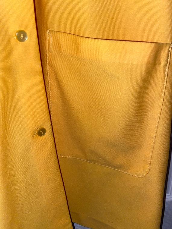Vintage Bright Yellow 60s/70s dress/jacket - image 3