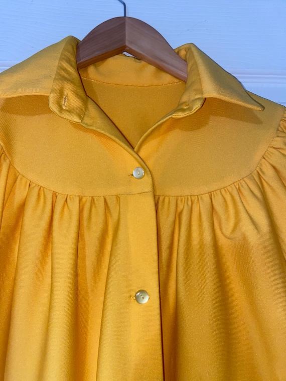Vintage Bright Yellow 60s/70s dress/jacket - image 2
