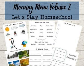 Morning Menu Bundle | Morning Binder | Morning Time Volume 2