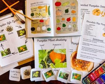 Pumpkin Mini Unity Study | Kids Baking Unit | Homeschool Unit Study