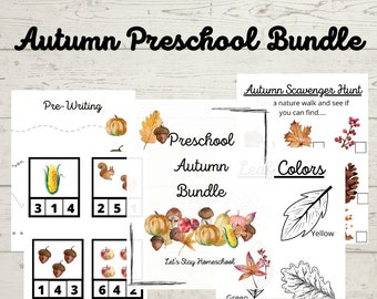 Autumn Preschool Mini Unit | Autumn Mini Unit | Autumn Unit Study| Autumn Printables for Preschool