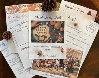 Thanksgiving Unit Study | Thanksgiving Mini Unit | Thanksgiving Homeschool Study