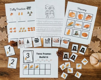 Thanksgiving Early Elementary Pack