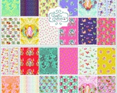 Shipping Now!: Curiouser and Curiouser by Tula Pink, Hand cut Bundles