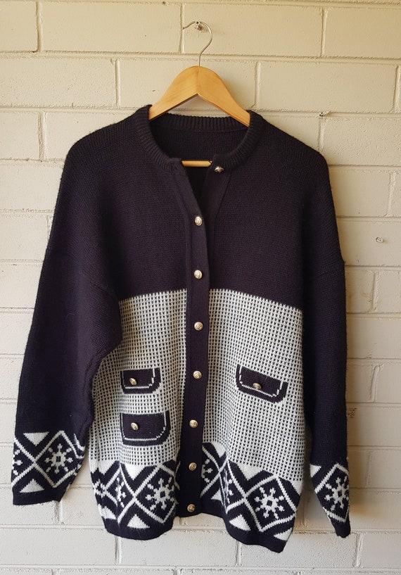 Vintage 80's Size 16 Cardigan | Size L | Womens |