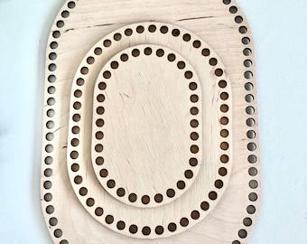 Wooden floor oval