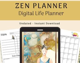 Zen Digital Planner | Digital Life Binder | iPad, Goodnotes, Noteshelf | Undated