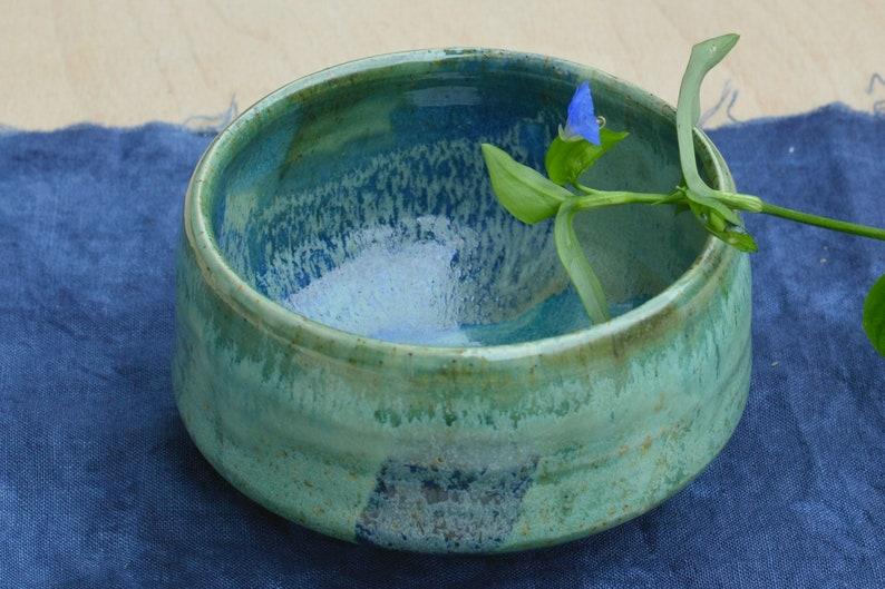 Matcha tea bowl Asagao image 0
