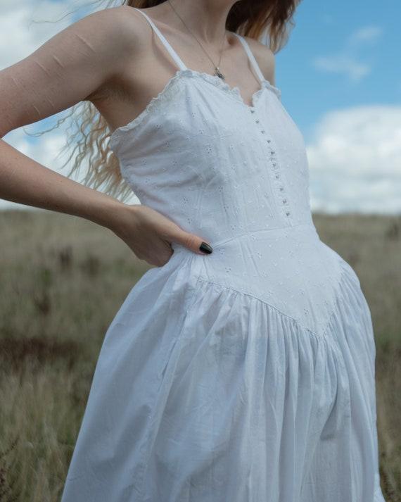 Vintage 80s prairie dress