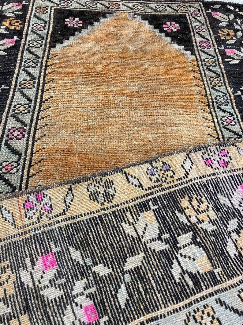 Oushak RugVintage RugSmall RugDecorative RugOriental RugHome Decor RugBohemian Rug 86x1.23 Turkish Small Anatolia Rug 2.8 x 4.0 Ft
