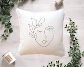Abstract Line Art Face Pillowcase