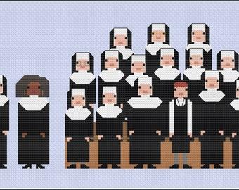 Parody Sister Act PDF Cross Stitch Pattern